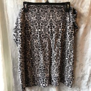 Lord & Taylor tan and black floral skirt-18 W